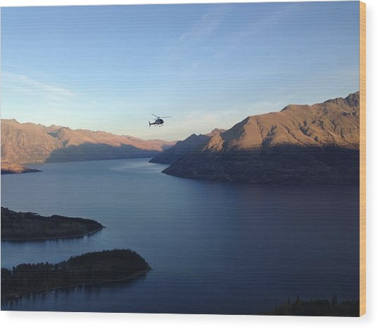 Helicopter Wood Print by Ron Torborg