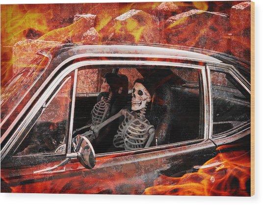 Hell Drive Wood Print