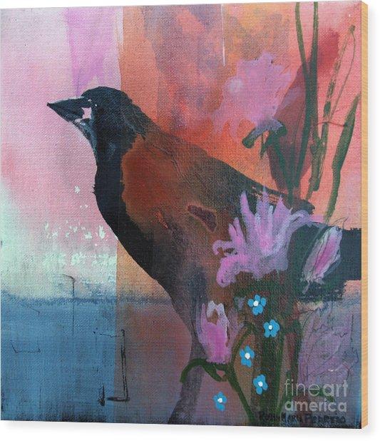 Hello Crow Wood Print