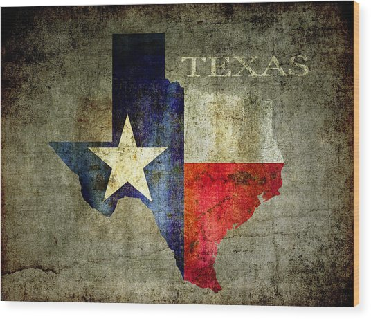 Hello Texas Wood Print