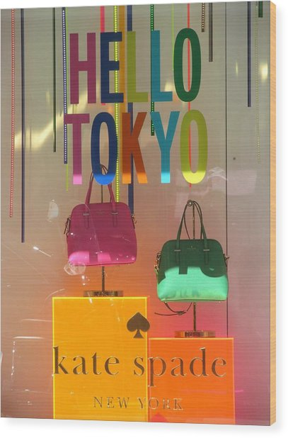 Hello Tokyo Wood Print