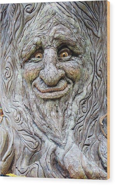 Hello Tree Wood Print