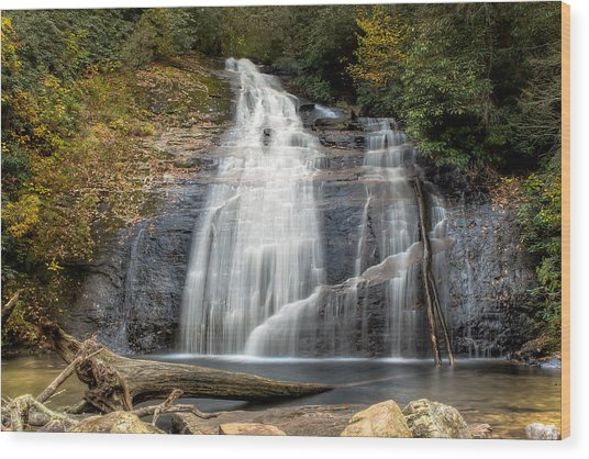 Helton Creek Falls Wood Print