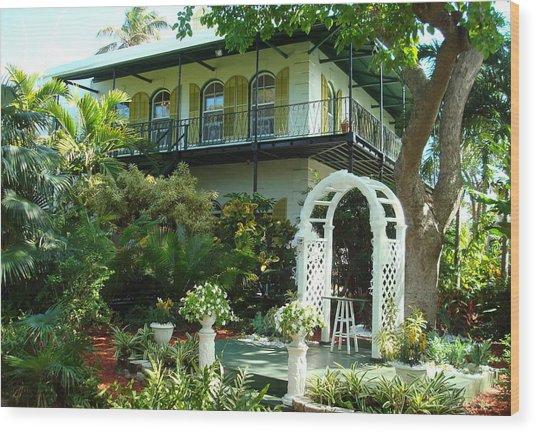Hemingway House Wood Print