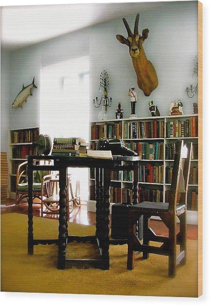 Hemingway's Studio II  Ernest Hemingway Wood Print