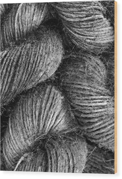Hemp Curls Wood Print