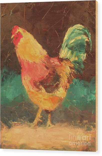 Hen In Vermont Wood Print