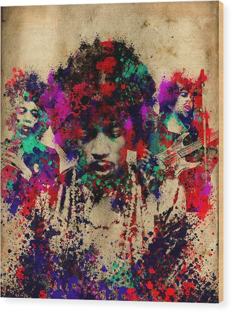 Hendrix 2 Wood Print