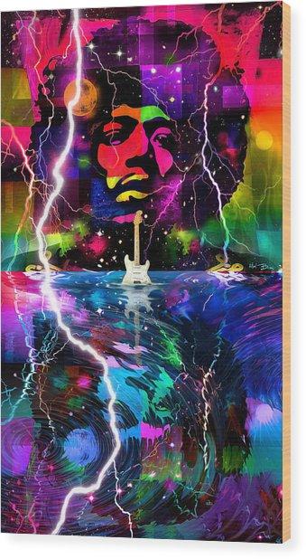 Hendrix Astro Man Wood Print