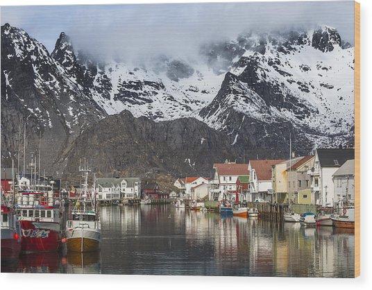 Henningsvaer Wood Print