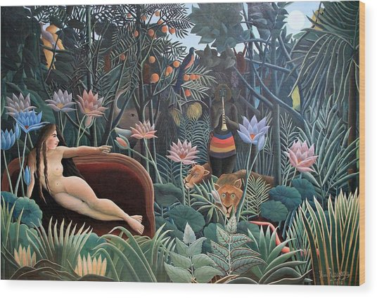 Henri Rousseau The Dream 1910 Wood Print
