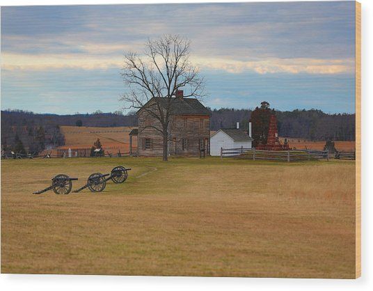 Henry House At Manassas Va Wood Print
