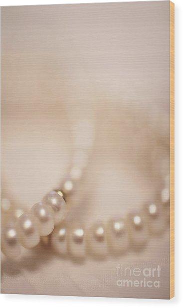 Her Pearls Wood Print