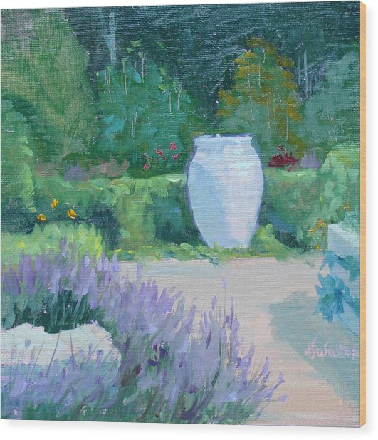 Herb Garden With Lavender Wood Print by Judy Fischer Walton