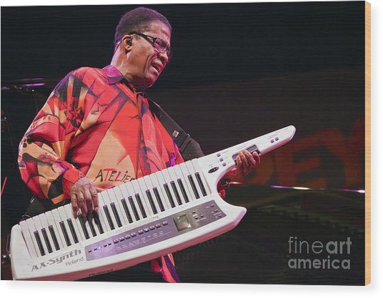 Herbie Hancock In Monterey Wood Print