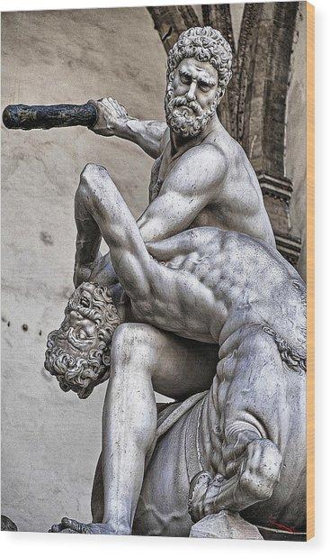 Hercules Killing The Centaur Wood Print