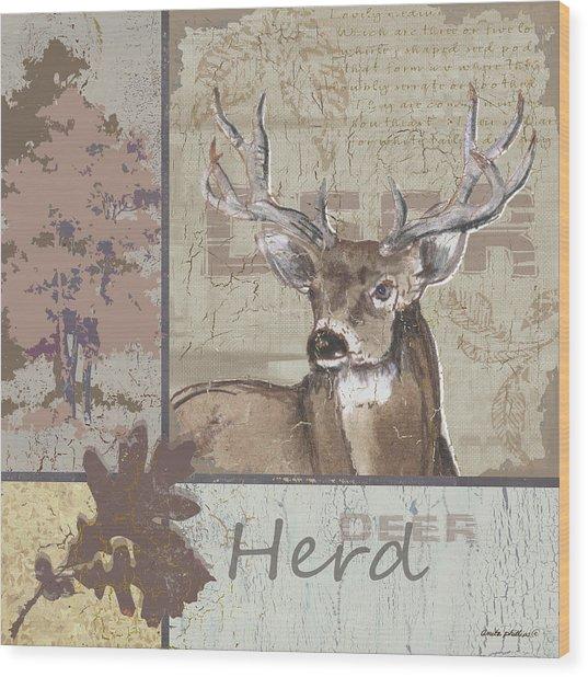 Herd Wood Print