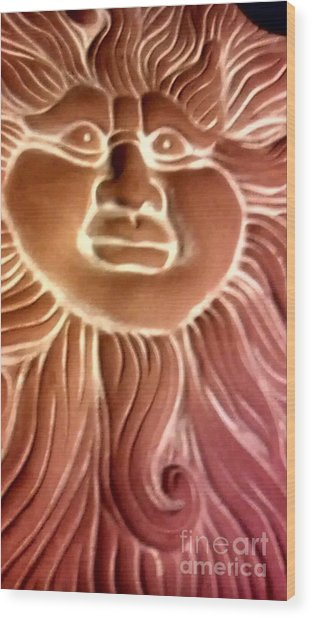 Here Comes The Sun Wood Print by Marlene Williams