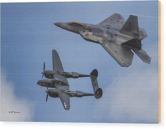 Here You Go Air Force Wood Print