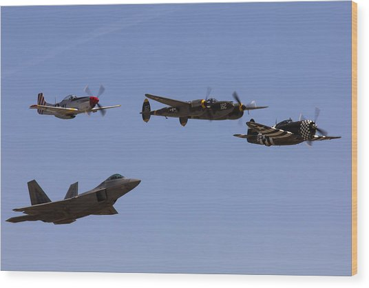Heritage Flight Of Four Wood Print