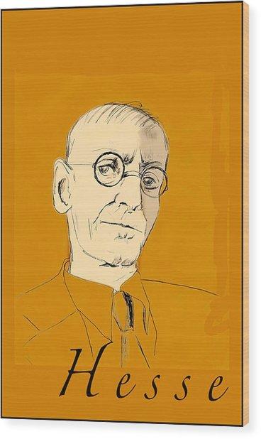 Herman Hesse Wood Print
