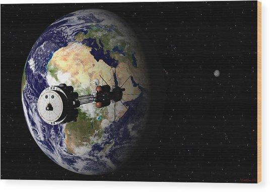 Hermes1 Leaving Earth Part 1 Wood Print