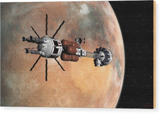Hermes1 Mars Insertion Part 1 Wood Print