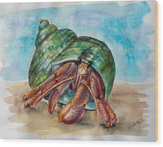 Hermit Crab 4 Wood Print