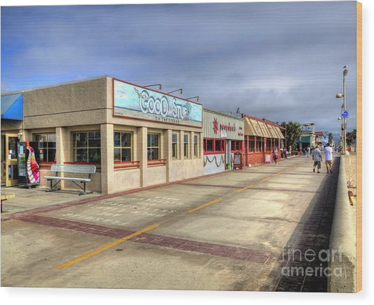 Hermosa Beach Boardwalk Wood Print