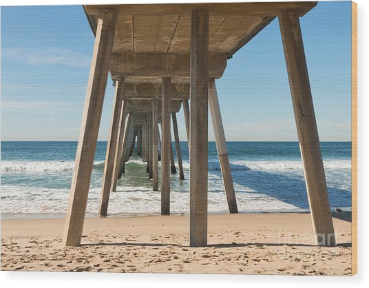 Hermosa Beach Pier Wood Print