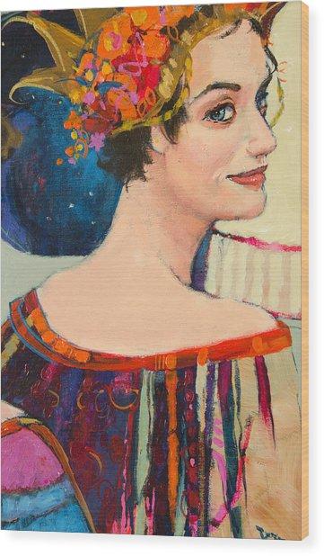 Heroine Wood Print by Jennifer Croom