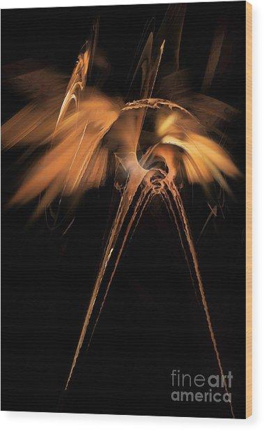 Heron - Marucii Wood Print
