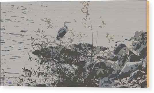 Silent Lake Wood Print