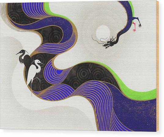 Herons Across Twisting River From Dragon Wood Print