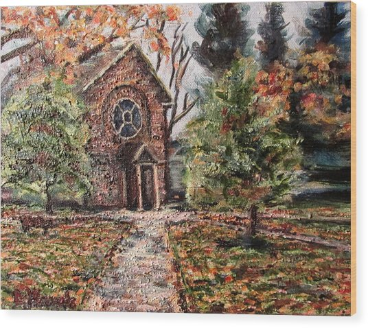 Herring Cole In Late September Wood Print