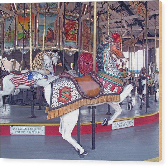 Herschell Spillman Armored Horse Wood Print