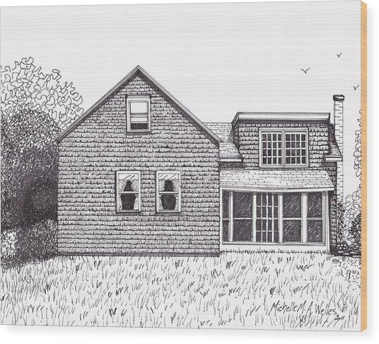 Hettinger Family Farm Wood Print