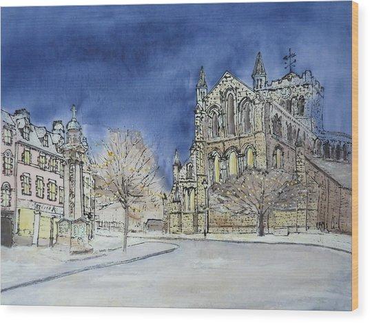 Hexham Abbey England Wood Print