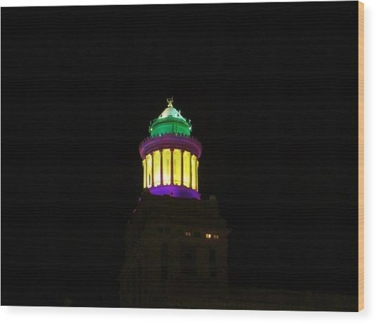Hibernia Tower - Mardi Gras Wood Print