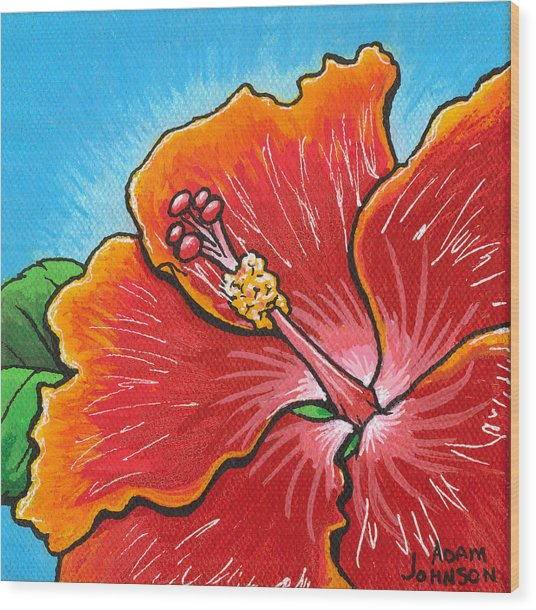 Hibiscus 06 Wood Print