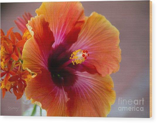 Hibiscus 3 Wood Print
