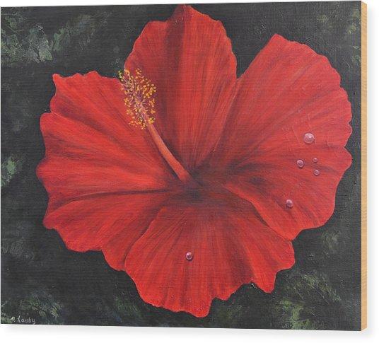 Hibiscus Beauty Wood Print