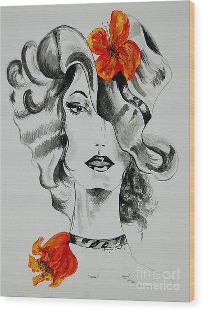 Hibiscus Fashion Wood Print