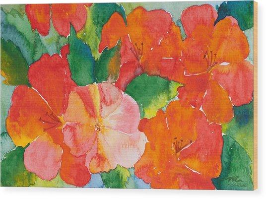 Hibiscus Flowers Wood Print