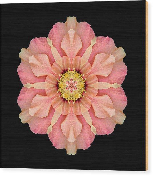 Hibiscus Rosa-sinensis I Flower Mandala Wood Print