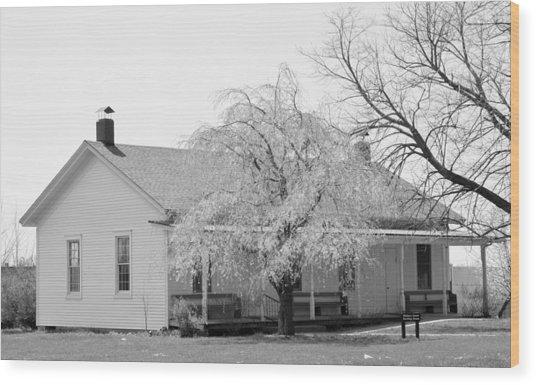 Hickory Grove Meeting House Wood Print by Corrie Blackshear