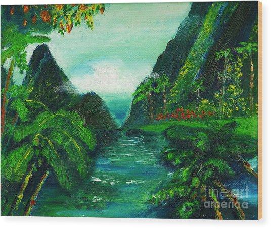 Hidaway Paradise Wood Print by Donna Chaasadah