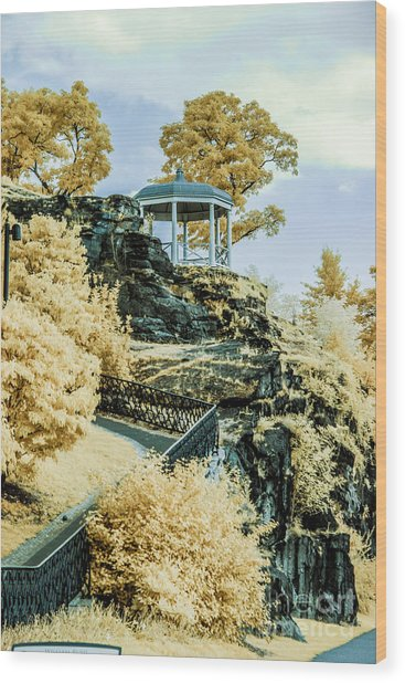 Hidden Gazebo Wood Print