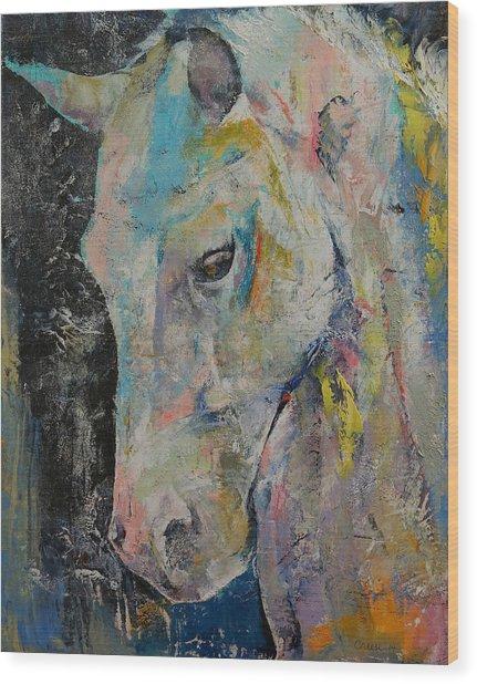 Hidden Heart Horse Wood Print