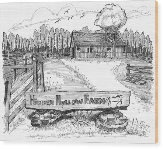 Hidden Hollow Farm 1 Wood Print